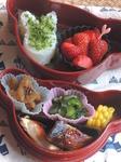 立夏の季節の幼稚園児のための和風弁当